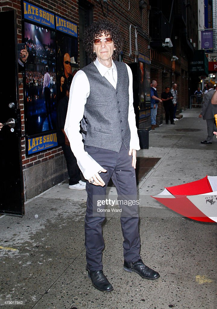 Howard Stern arrives for 'The Late Show with David Letterman' at the Ed Sullivan Theater on May 11 2015 in New York City