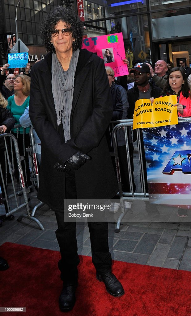 <a gi-track='captionPersonalityLinkClicked' href=/galleries/search?phrase=Howard+Stern&family=editorial&specificpeople=211543 ng-click='$event.stopPropagation()'>Howard Stern</a> attends the 'America's Got Talent' New York Auditions at Rockefeller Center on April 8, 2013 in New York City.