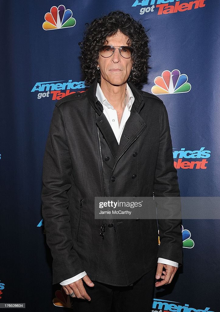 Howard Stern attends the 'America's Got Talent' Post Show Red Carpet at Radio City Music Hall on August 14 2013 in New York City