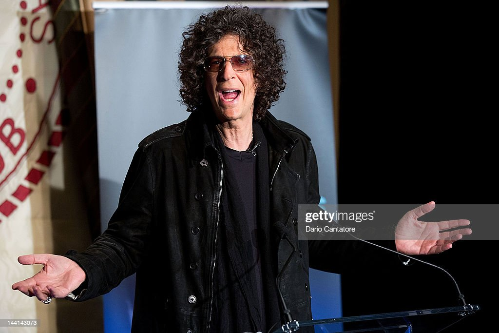 Howard Stern attends the 'America's Got Talent' Press Conference at New York Friars Club on May 10 2012 in New York City