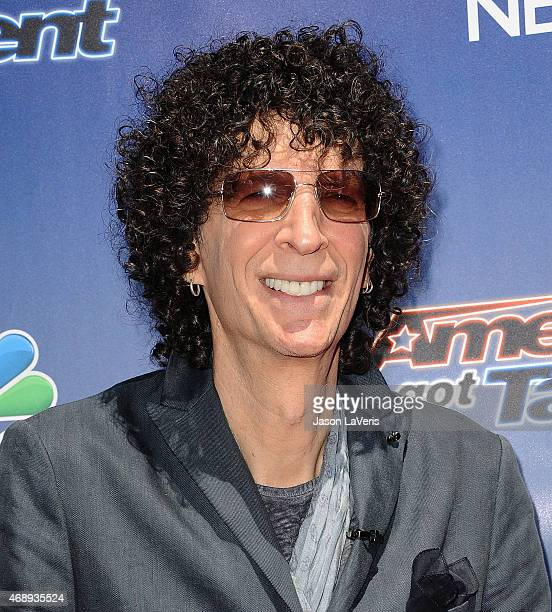 Howard Stern attends the 'America's Got Talent' season 10 red carpet event at Dolby Theatre on April 8 2015 in Hollywood California