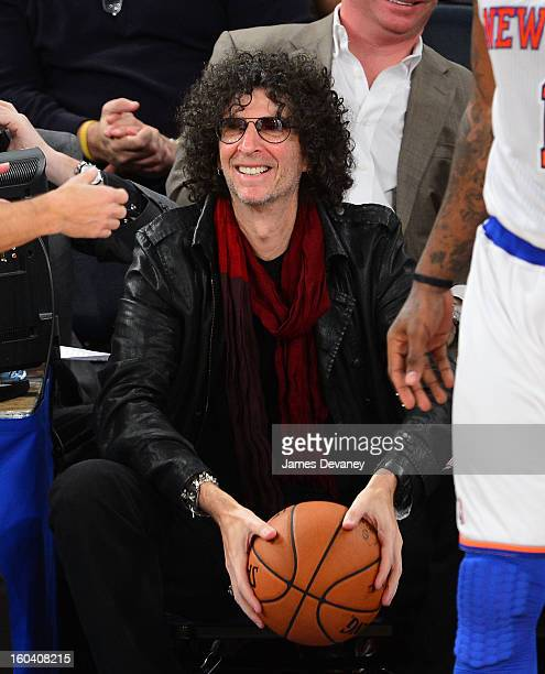 Howard Stern attends the Orlando Magic vs New York Knicks game at Madison Square Garden on January 30 2013 in New York City