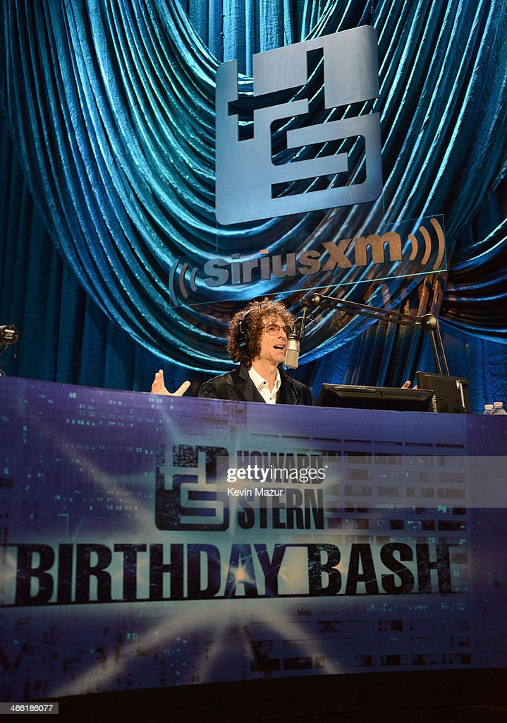 Howard Stern speaks onstage at 'Howard Stern's Birthday Bash' presented by SiriusXM produced by Howard Stern Productions at Hammerstein Ballroom on...