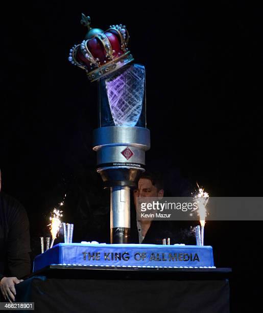 Howard Stern's birthday cake onstage at 'Howard Stern's Birthday Bash' presented by SiriusXM produced by Howard Stern Productions at Hammerstein...