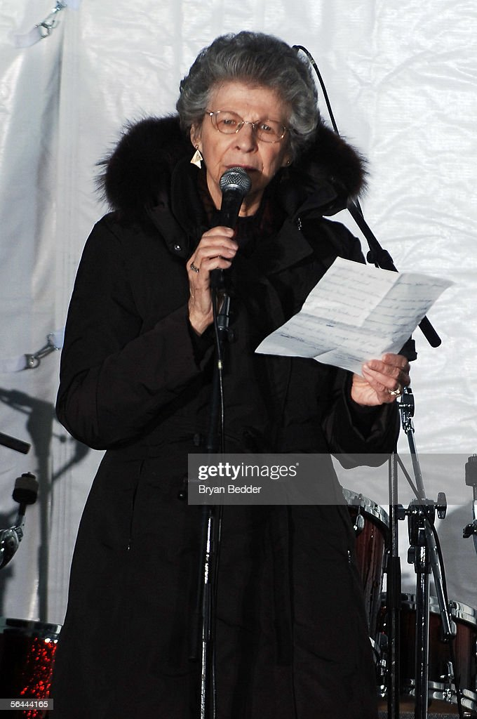 Howard Stern's mother, Reigh Stern appears onstage during the last WXRK 'Howard Stern Show' December 16, 2005 in New York City.