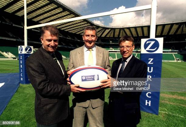Howard Thomas Chief Executive of ERP James Hill Marketing Communications Director and Rob Andrew Newcastle Falcons Director of Rugby