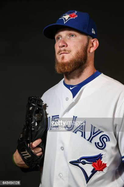 P Howell of the Toronto Blue Jays poses for a portait during a MLB photo day at Florida Auto Exchange Stadium on February 21 2017 in Sarasota Florida