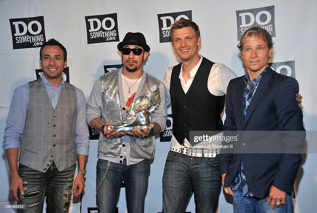 <a gi-track='captionPersonalityLinkClicked' href=/galleries/search?phrase=Howie+Dorough&family=editorial&specificpeople=204770 ng-click='$event.stopPropagation()'>Howie Dorough</a>, A. J. McLean, <a gi-track='captionPersonalityLinkClicked' href=/galleries/search?phrase=Nick+Carter&family=editorial&specificpeople=201755 ng-click='$event.stopPropagation()'>Nick Carter</a> and <a gi-track='captionPersonalityLinkClicked' href=/galleries/search?phrase=Brian+Littrell&family=editorial&specificpeople=215310 ng-click='$event.stopPropagation()'>Brian Littrell</a> of the Backstreet Boys attend DoSomething.org's celebration of the 2010 Do Something Award nominees at The Apollo Theater on May 24, 2010 in New York City.