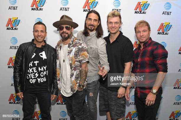 Howie Dorough AJ McLean Kevin Richardson Nick Carter and Brian Littrell of Backstreet Boys attend 1035 KTU's KTUphoria 2017 presented by ATT at...