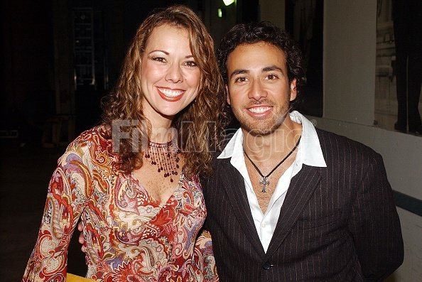 Howie Dorough and sister Pollyanna during MTV Video Music