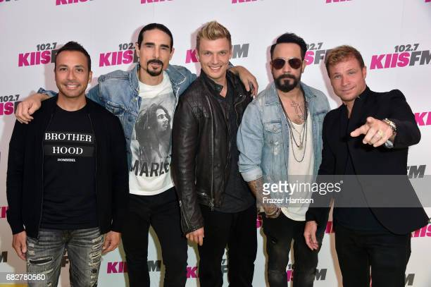 Howie Dorough Kevin Richardson Nick Carter AJ McLean and Brian Littrell attend 1027 KIIS FM's 2017 Wango Tango at StubHub Center on May 13 2017 in...