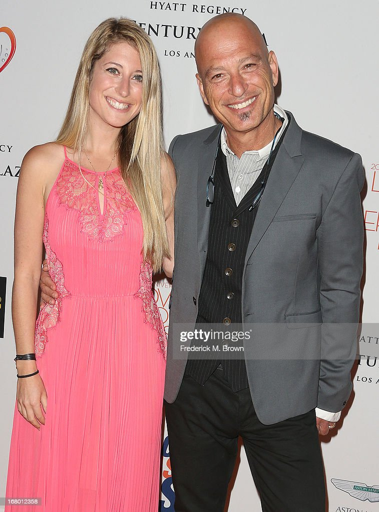 <a gi-track='captionPersonalityLinkClicked' href=/galleries/search?phrase=Howie+Mandel&family=editorial&specificpeople=595760 ng-click='$event.stopPropagation()'>Howie Mandel</a> (R) and his guest attend the 20th Annual Race to Erase MS Gala 'Love to Erase MS' at the Hyatt Regency Century Plaza on May 3, 2013 in Century City, California.