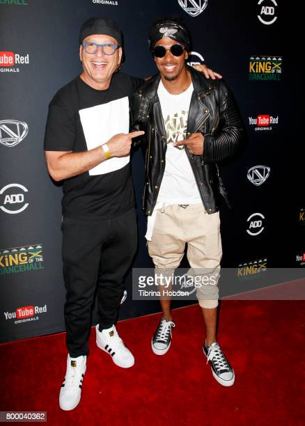 Howie Mandel and Nick Cannon attend a screening of 'King Of The Dance Hall' at TCL Chinese 6 Theatres on June 22 2017 in Hollywood California