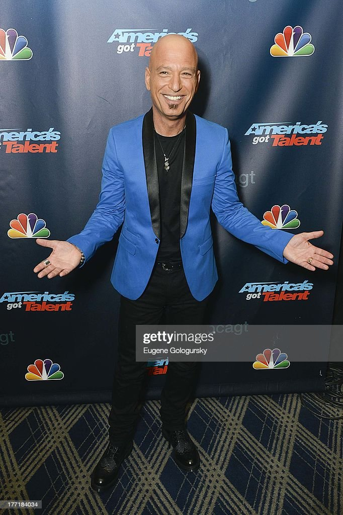 <a gi-track='captionPersonalityLinkClicked' href=/galleries/search?phrase=Howie+Mandel&family=editorial&specificpeople=595760 ng-click='$event.stopPropagation()'>Howie Mandel</a> attends the 'America's Got Talent' post show red carpet at Radio City Music Hall on August 21, 2013 in New York City.