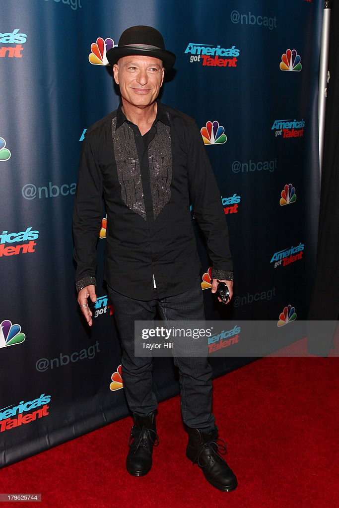 <a gi-track='captionPersonalityLinkClicked' href=/galleries/search?phrase=Howie+Mandel&family=editorial&specificpeople=595760 ng-click='$event.stopPropagation()'>Howie Mandel</a> attends the 'America's Got Talent' Season 8 Red Carpet Event at Radio City Music Hall on September 4, 2013 in New York City.