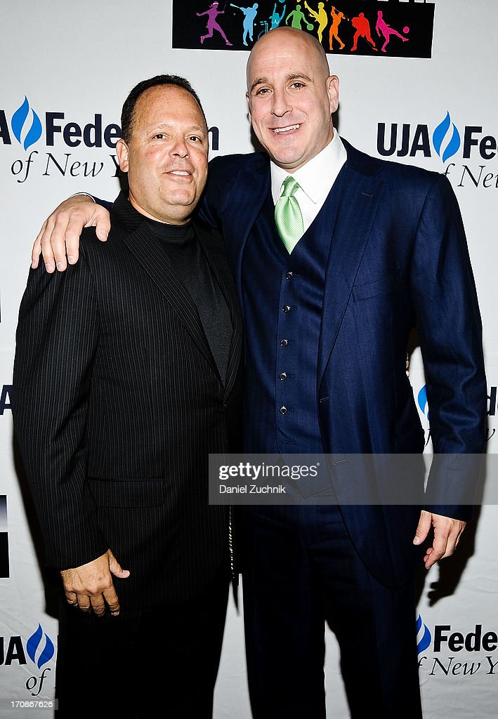 Howie Nuchow and Michael Levine attend UJA-Federation Of New York's Sports for Youth Luncheon at The Roosevelt Hotel on June 19, 2013 in New York City.