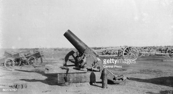Howitzer captured by the British during the Mesopotamian Campaign of World War I circa 1915