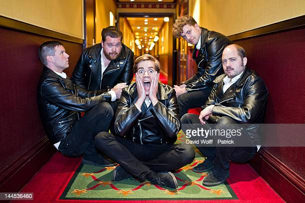 Howlin' Pelle Almqvist Chris Dangerous Nicholaus Arson Vigilante Carlstroem and Dr Matt Destruction from The Hives are posing during photo session at...