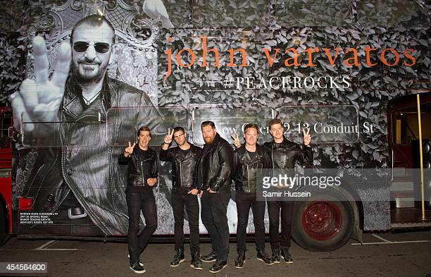 Howlin' Pelle Almqvist Nicholas Arson Vigilante Carlstroem Dr Matt Destruction and Chris Dangerous of The Hives attend the John Varvatos store launch...