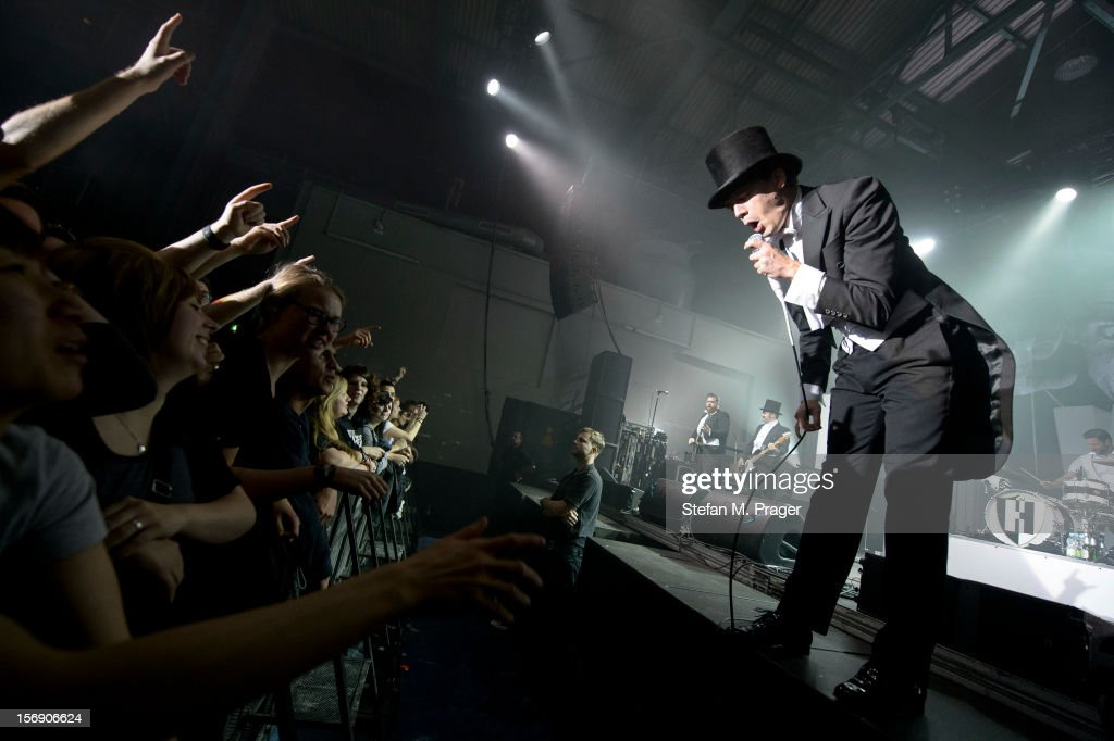 Howlin' Pelle Almqvist of The Hives performs at Kesselhaus on November 24, 2012 in Munich, Germany.
