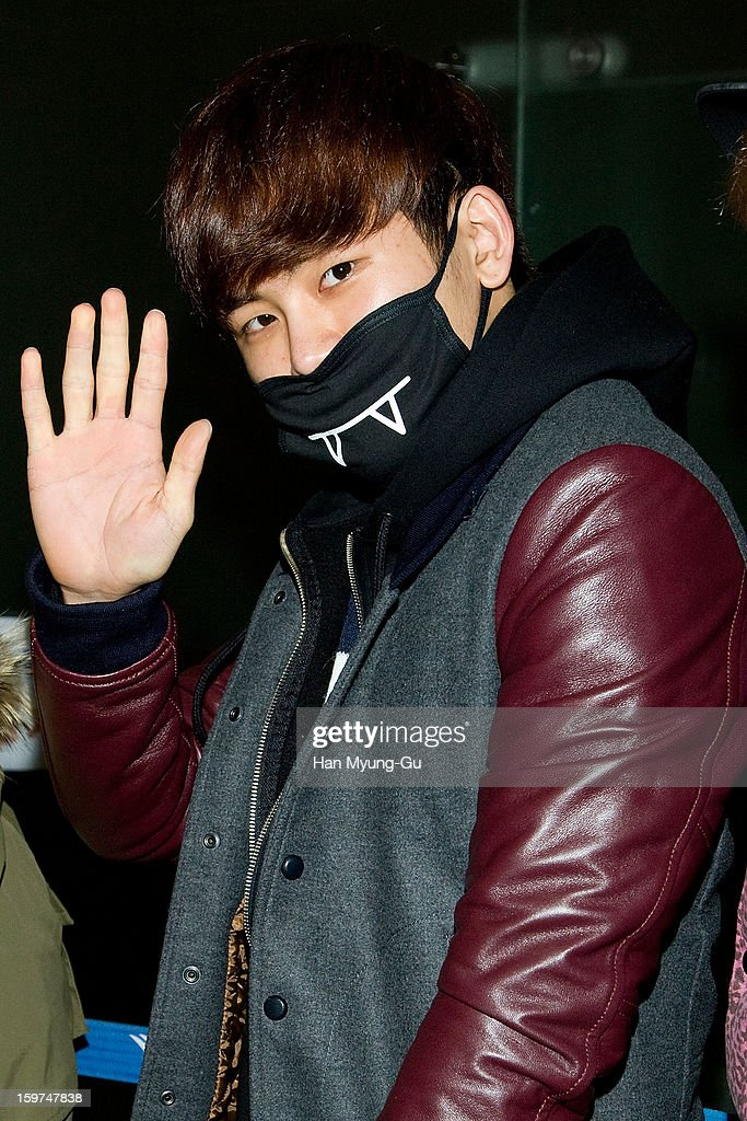 Hoya of South Korean boy band Infinite H is seen at Incheon International Airport on January 19, 2013 in Incheon, South Korea.
