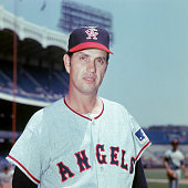 Hoyt Wilhelm of the California Angels poses for a portrait during the 1969 MLB season