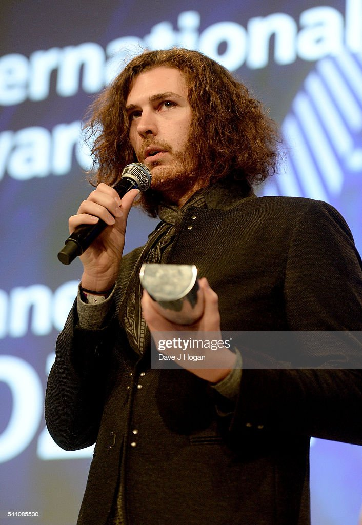 Hozier accepts the Raymond Weil International Award on stage during the Nordoff Robbins O2 Silver Clef Awards on July 1, 2016 in London, United Kingdom.