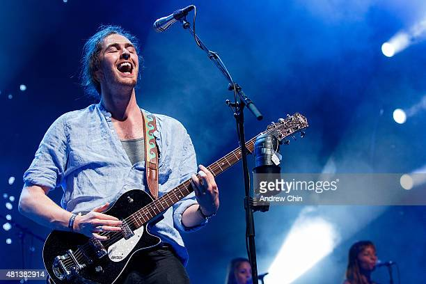 Hozier performs onstage during the Pemberton Music Festival on July 19 2015 in Pemberton Canada