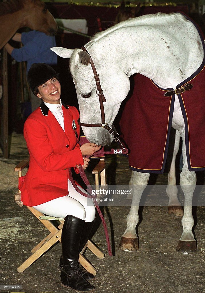 Hrh Princess Haya Bint Al Hussein, Daughter Of The Late King Hussein Of Jordan With Her Horse 'cera' At The International Showjumping Championships At Olympia