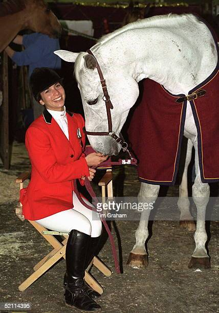 Hrh Princess Haya Bint Al Hussein Daughter Of The Late King Hussein Of Jordan With Her Horse 'cera' At The International Showjumping Championships At...