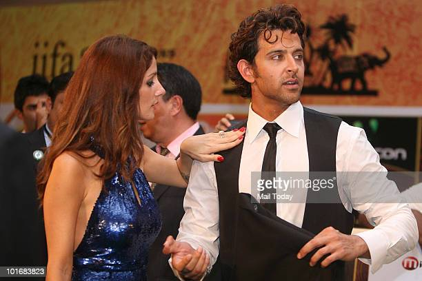 Hrithik and Suzanne Roshan at the IIFA awards in Colombo on June 5 2010