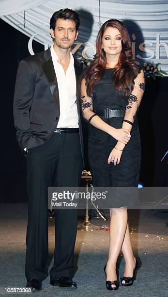 Hrithik Roshan and Aishwarya Rai Bachchan at the music launch of the film �Guzaarish� in Mumbai on October 20 2010
