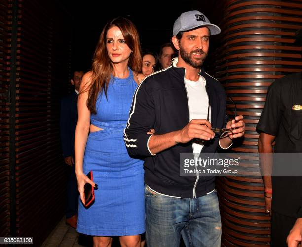Hrithik Roshan and Sussanne Khan snapped at Estelle in Juhu Mumbai