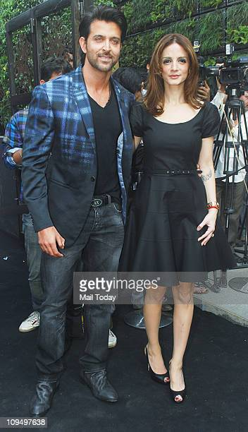 Hrithik Roshan and Suzanne Roshan at the launch of Suzanne Roshan's 'The Charcoal' project at Andheri Mumbai on February 272011