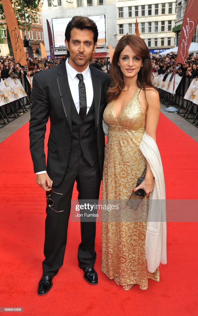 <a gi-track='captionPersonalityLinkClicked' href=/galleries/search?phrase=Hrithik+Roshan&family=editorial&specificpeople=234615 ng-click='$event.stopPropagation()'>Hrithik Roshan</a> and Suzanne Roshan attend the European Premiere of 'Kites' at Odeon West End on May 18, 2010 in London, England.