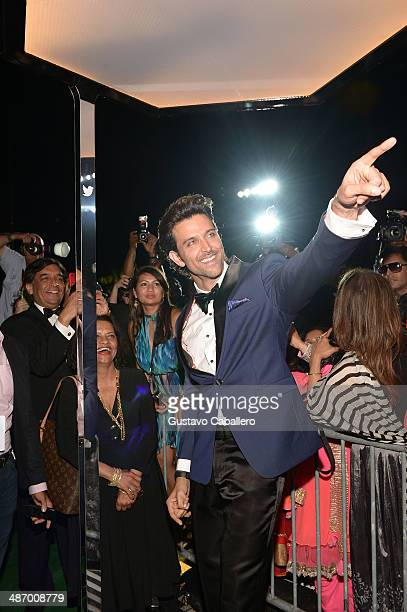 Hrithik Roshan arrives to the IIFA Awards at Raymond James Stadium on April 26 2014 in Tampa Florida