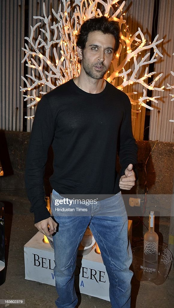 Hrithik Roshan at Special preview of Otlo Design project hosted by Belvedere Vodka at Bhavishyavani Backyard, Bandra on March 11, 2013 in Mumbai, India.