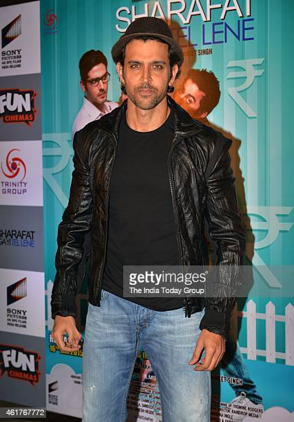 Hrithik Roshan at the Screening of Sharafat gai tel lene in Mumbai