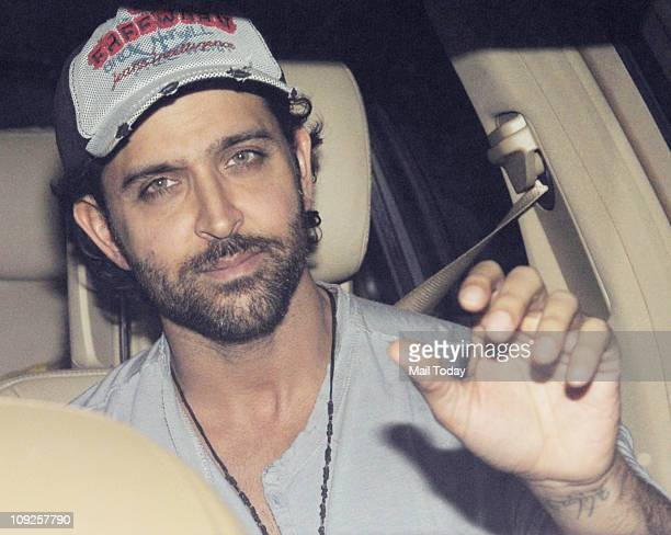 Hrithik Roshan at the special screening of the movie '7 Khoon Maaf' at Yashraj Studios Andheri on February 17 2011