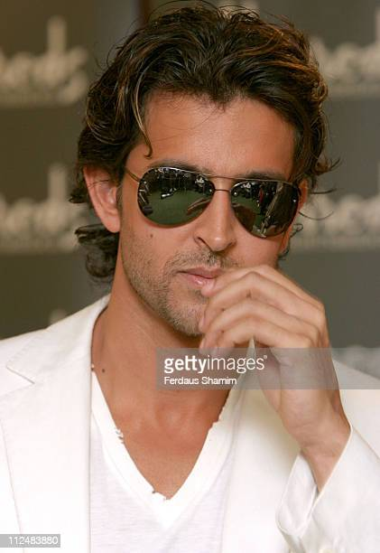 Hrithik Roshan during Bollywood Legends' Dolls Launch at Harrods in London Great Britain