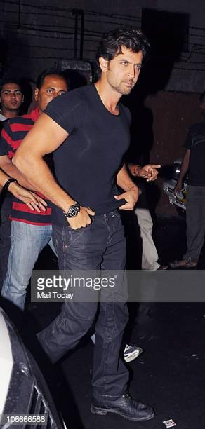Hrithik Roshan on the sets of the reality show Sa Re Ga Ma Pa in Mumbai on November 9 2010