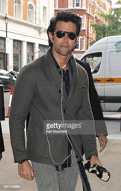 Hrithik Roshan seen at BBC Radio One on October 15 2013 in London England
