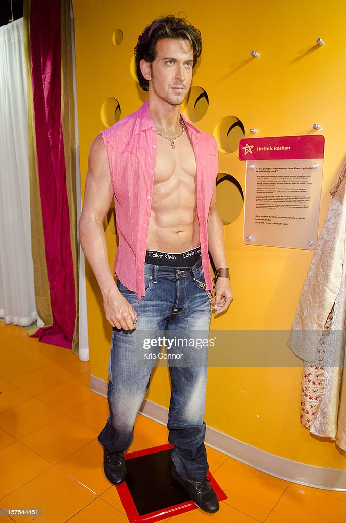 <a gi-track='captionPersonalityLinkClicked' href=/galleries/search?phrase=Hrithik+Roshan&family=editorial&specificpeople=234615 ng-click='$event.stopPropagation()'>Hrithik Roshan</a> wax figure is unveiled during the launch of the traveling Bollywood Exhibit at Madame Tussauds on December 4, 2012 in Washington, DC.