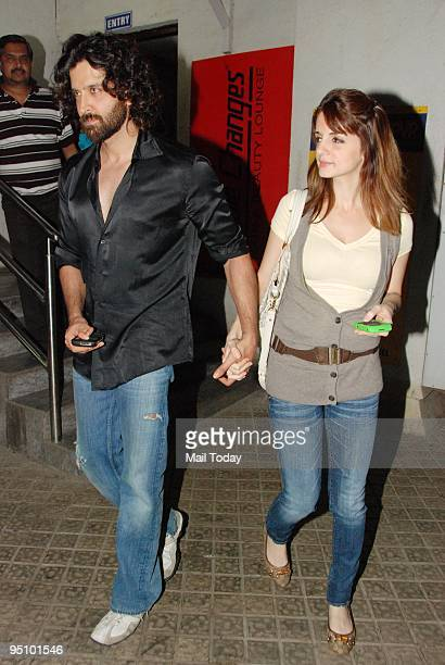 Hrithik Roshan with wife Suzanne in Mumbai on Monday December 21 2009