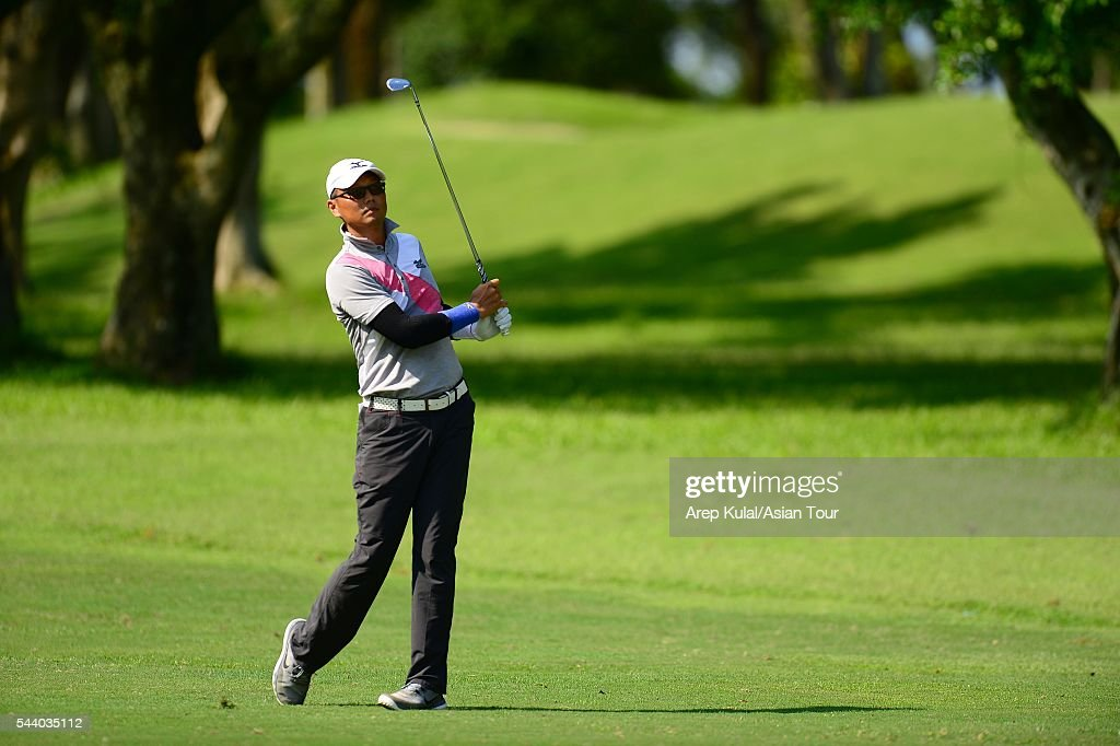 Hsieh Tung-hung of Chinese Taipei pictured during thr round two of the Yeangder Tournament Players Championship 2016 at Linkou International Golf Club on July 1, 2016 in Taipei, Taiwan.