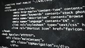 piece of html code show on computer screen - design abstract background