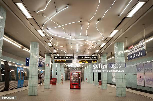 Hötorget metro Station in Stockholm Sweden June 27 2015