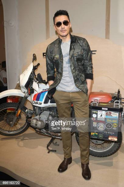 Hu Bing attends the Belstaff Presentation during London Fashion Week Men's June 2017 collections on June 12 2017 in London England