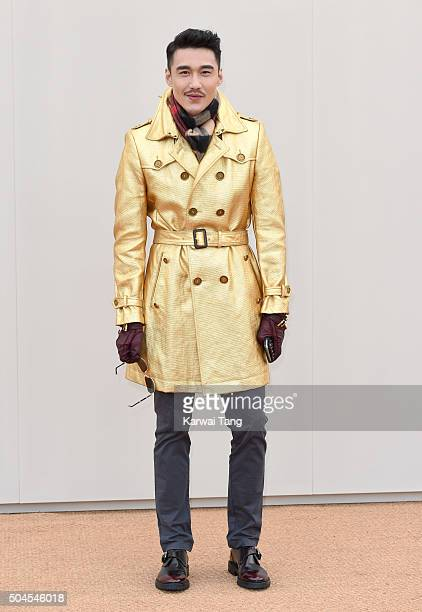 Hu Bing attends the Burberry show during The London Collections Men AW16 at Kensington Gardens on January 11 2016 in London England