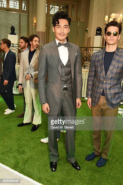 Hu Bing attends the Chester Barrie presentation during The London Collections Men SS17 on June 12 2016 in London England